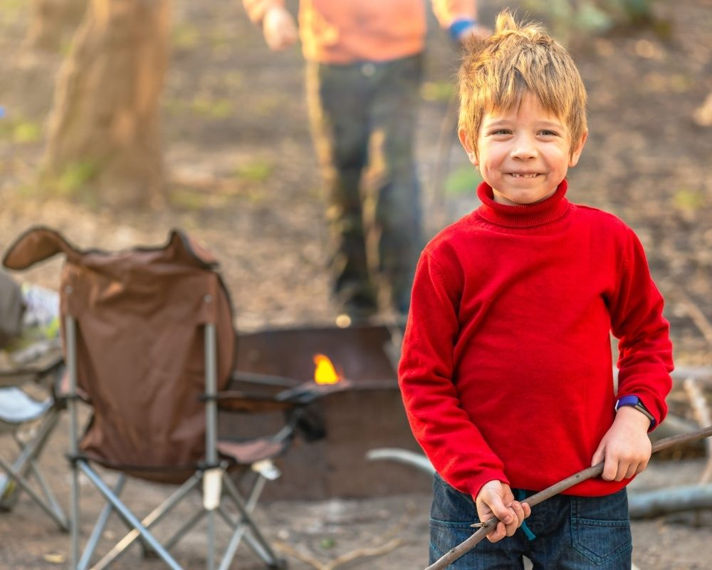 things to do while camping - find the perfect stick