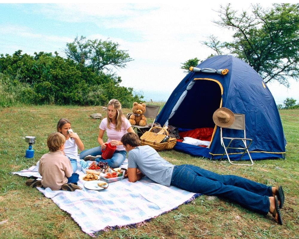 family camping with kids
