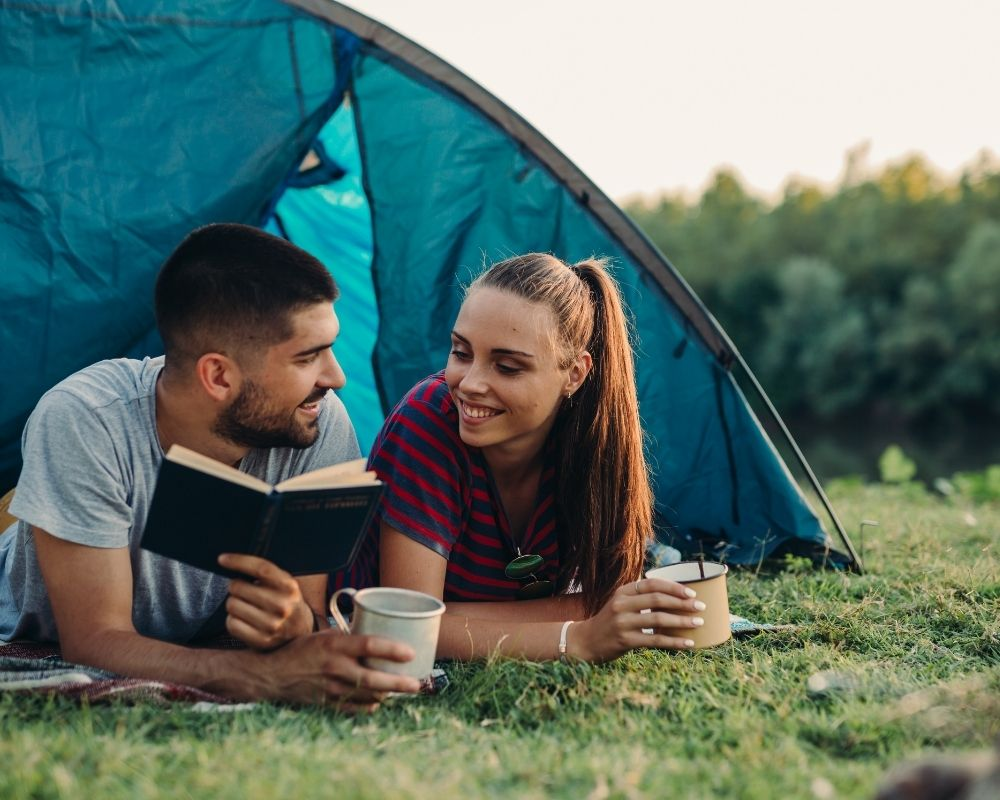 camping activities for couples - reading